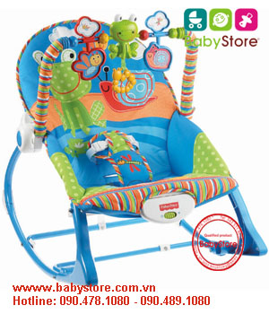 Ghế rung Fisher Price X7033 Infant to Toddler Rocker, Snails