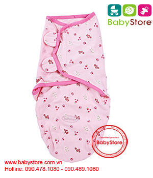 Chăn quấn bé ladybug Summer Infant Swaddleme cotton small pink lady bug 73500B