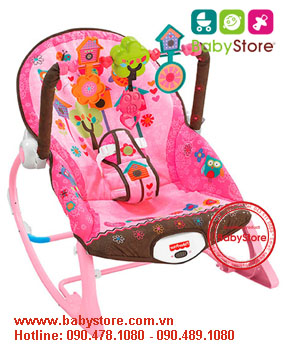 Ghế rung Fisher Price X7032 hồng (version 2015)